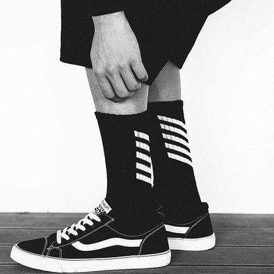AE Striped Skateboard Socks 1PC