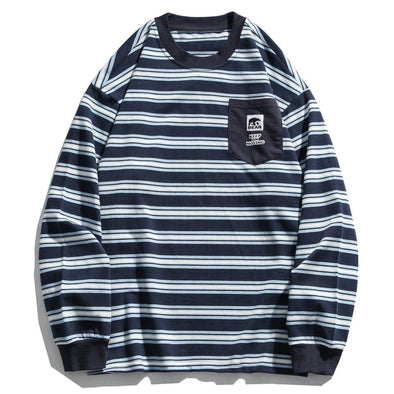 Aelfric Eden Vintage Striped Bear Label Sweatshirt