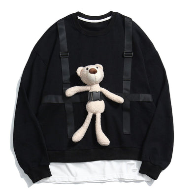 Aelfric Eden Bear Doll Fake Two Sweatshirts