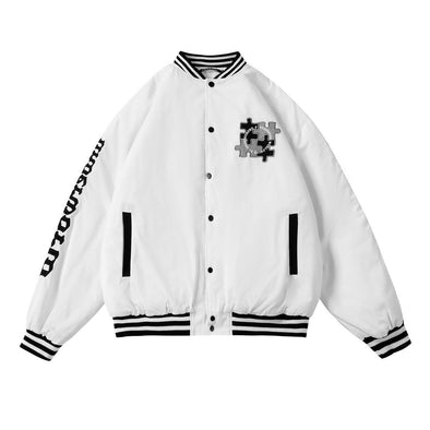 Aelfric Eden Vintage Puzzle Embroidery Varsity Jacket