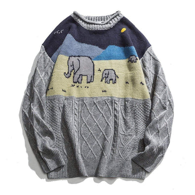 Aelfric Eden Baby Elephant Knitted Sweater