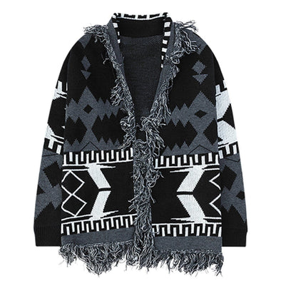 Aelfric Eden Patchwork Printed Knitted Cardigan Sweater