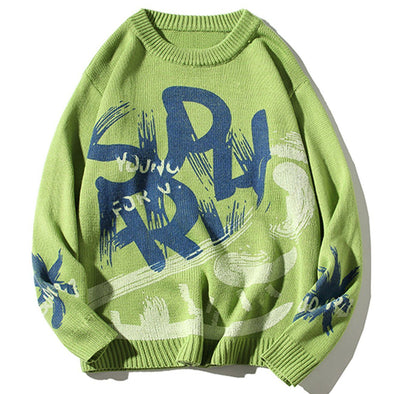 Aelfric Eden Vintage Alphabet Graffiti Sweater