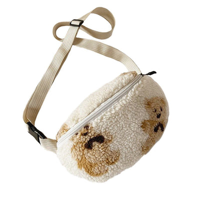Aelfric Eden Bear Print Sherpa Chest Bag