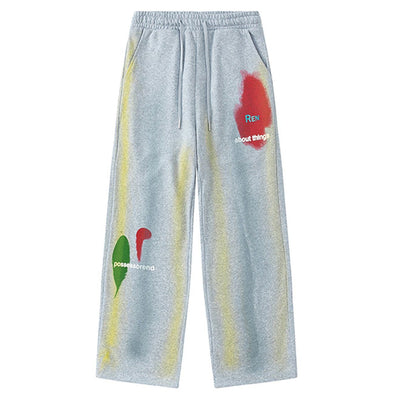 Aelfric Eden Vintage Oil Paint Graffiti Sweatpants