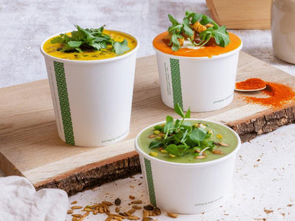 Eco-friendly Compostable Soup and Ice Cream Containers