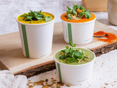 Compostable Soup and Ice Cream Containers