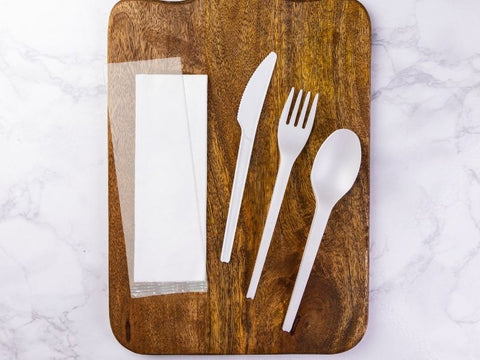 Eco-friendly Compostable Cutlery and Napkins