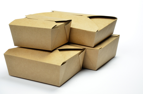 Eco-friendly Compostable Kraft Hot Food Takeaway Boxes