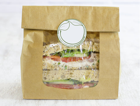 Eco-friendly stickers for sandwich bags