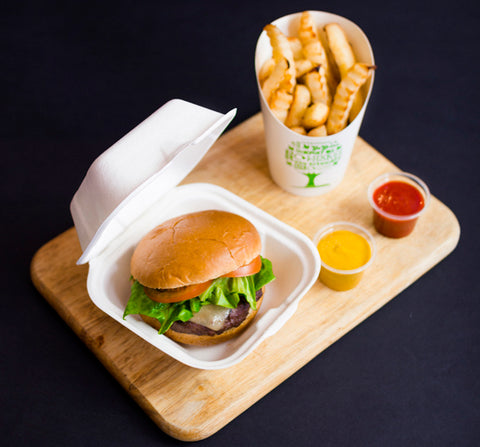 Compostable containers for chip shops