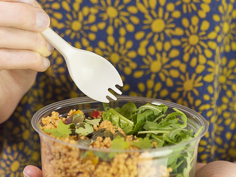 Biodegradable Disposable Spork and Salad Pot