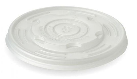 Compostable CPLA Flat Soup Pot Lids - Suitable For Hot Food (Large)