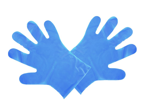 Biodegradable Blue Food Preparation Gloves - Medium