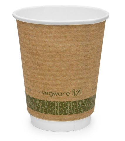 Brown Double Wall Economy Coffee Cups - 8oz