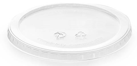 Compostable Lid For Clear PLA Round Bowl - 600ml