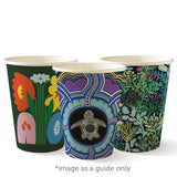 Compostable Art Series Single Wall Coffee Cups - 12oz