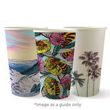 Compostable Art Series Single Wall Coffee Cups - 16oz