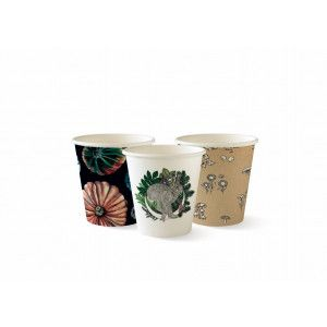 Compostable Art Series Single Wall Coffee Cups - 4oz