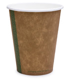 Compostable Brown Single Wall Coffee Cups - 12oz Medium Coffee Cup