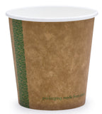 Compostable Brown Single Wall Coffee Cups - 4oz Espresso