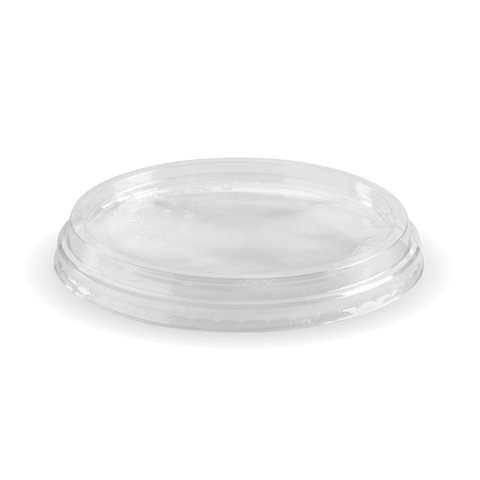 Compostable Clear Round BioBowl Lid (fits 240ml - 960ml Containers)