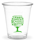 Compostable Green Tree Standard PLA Cold Drinks Cups - 12oz CE Marked