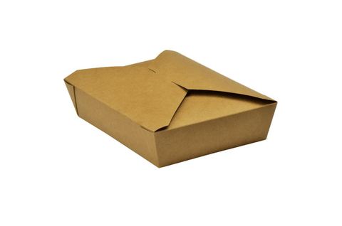 Compostable Kraft Hot Food Carton - Size B1 / No.5 (32oz / 1050ml)