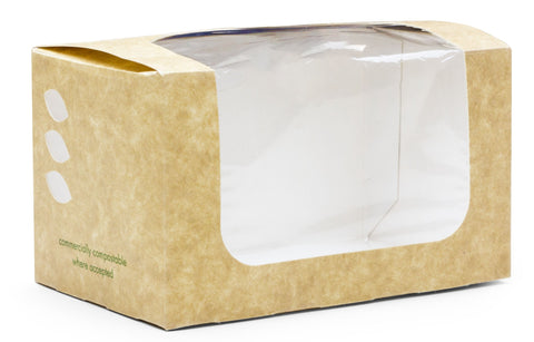 Compostable Kraft Sandwich Bloomer Carton