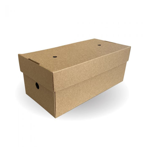Compostable Large Premium Kraft Delivery Double Burger Box