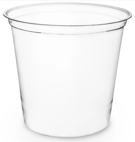 Compostable Clear PLA Round Deli Containers - 24oz