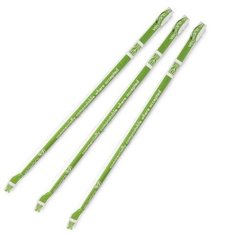 Compostable Standard White Wrapped 6mm Paper Straw