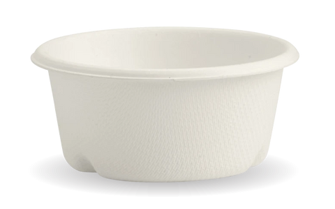 Compostable White BioCane Sauce Cup - 60ml