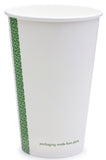 Compostable White Single Wall Coffee Cups - 12oz 79mm