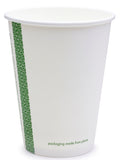 Compostable White Single Wall Coffee Cups - 12oz