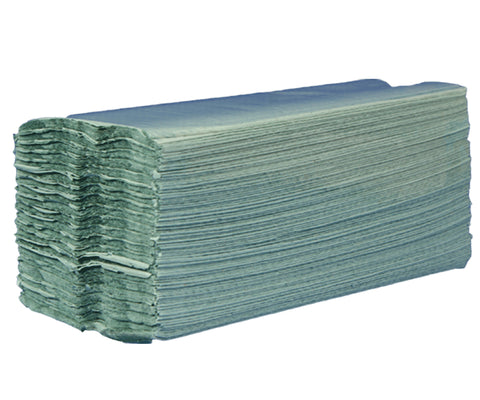 Compostable 1-ply Green C-Fold Hand Towels - 310mm x 230mm