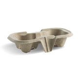 Compostable 2 Cup Carry Tray