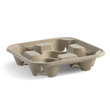Compostable Drinks Carry Tray
