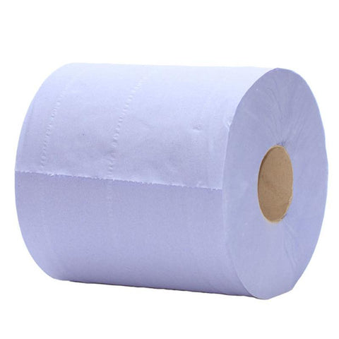Compostable Blue 2 Ply Centrefeed Roll - 19.5cm x 150m