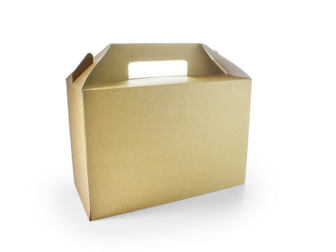 Compostable Brown Recycled Kraft Carry Pack - Large