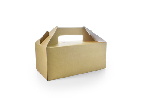 Compostable Brown Recycled Kraft Carry Pack - Standard