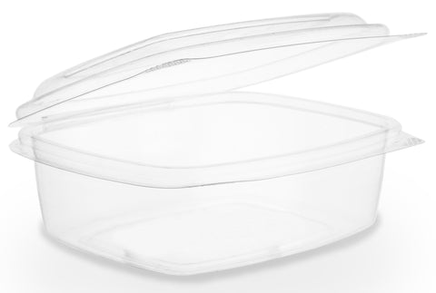 Compostable Clear Hinged Biodegradable Deli Container - 12oz