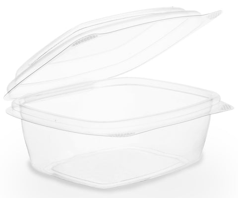 Compostable Clear Hinged Biodegradable Deli Container - 8oz