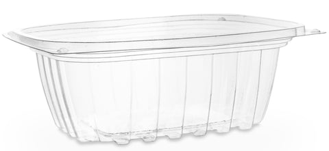 Compostable Clear Rectangular Biodegradable Deli Container - 12oz
