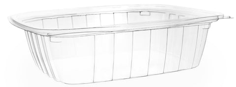 Compostable Clear Rectangular Biodegradable Deli Container - 24oz