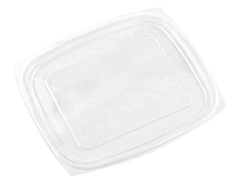 Compostable Clear Rectangular Deli Container Lid - Large