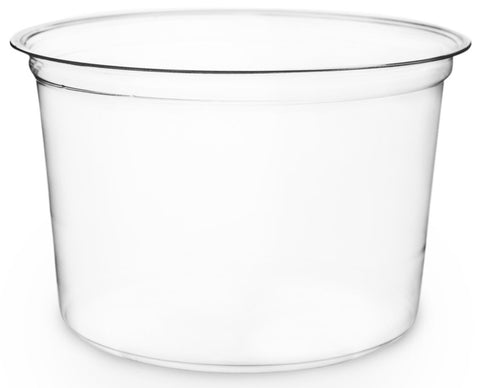 Compostable Clear PLA Round Bowl - 600ml