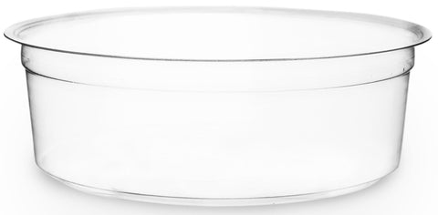 Compostable Clear Round Biodegradable Deli Container - 8oz