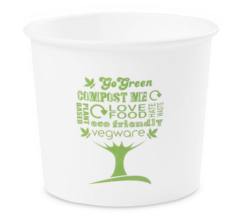 Compostable Green Tree Biodegradable Soup Container - 10oz