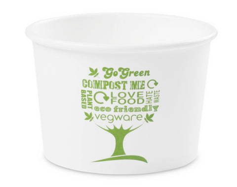 Compostable Green Tree Biodegradable Soup Container - 8oz